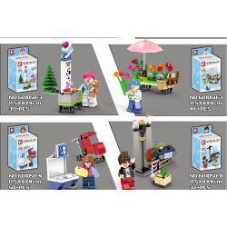 SEMBO 601050 601050-1 601050-2 601050-3 601050-4 601050-5 601050-6 601050-7 601050-8 Xếp hình kiểu Lego CITY 8 Urban Minifigures Cư Dân Thành Phố 8 gồm 8 hộp nhỏ 325 khối