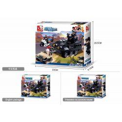 SLUBAN M38-B0655 B0655 0655 M38B0655 38-B0655 Xếp hình kiểu Lego POLICE Special Armored Fighting Vehicle Xe chiến đấu bọc thép đặc biệt 324 khối