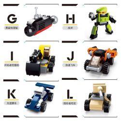 SLUBAN B0591 0591 Xếp hình kiểu Lego CREATOR Creative N Change -12 12 Các Phương Tiện Chiến đấu 323 khối