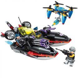 Enlighten 2711 (NOT Lego SWAT Special Force The High-Tech Era ) Xếp hình Cuộc Tấn Công Của Thuyền Cá Mập 317 khối