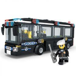 LE DI PIN 27009 Xếp hình kiểu Lego SWAT SPECIAL FORCE SWAT Bus Xe bus SWAT 330 khối