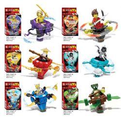 SHENG YUAN SY 1247 1247-1 1247-2 1247-3 1247-4 1247-5 1247-6 1247-7 1247-8 Xếp hình kiểu Lego THE LEGO NINJAGO MOVIE Cyclone Ninja Spinner 8 Types Cyclone Ninja Spinner 8 loại gồm 8 hộp nhỏ 330 khối