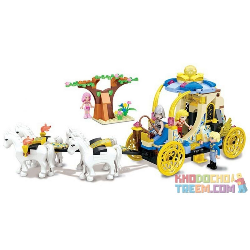 Winner 5013 Xếp hình kiểu Lego MERMAID Wei Mei Fish Wedding Carriage Cỗ Xe Ngựa Kéo 329 khối