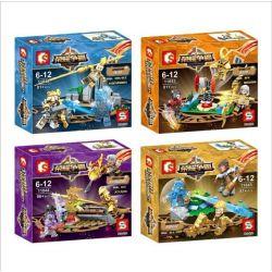 SEMBO 11842 11843 11844 11845 Xếp hình kiểu Lego KING OF GLORY HEGEMONY Human Rumor 4 Models Minifigure Cảnh Chiến đấu 4 Loại gồm 4 hộp nhỏ 329 khối