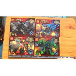 LELE 34058 34058-1 34058-2 34058-3 34058-4 Xếp hình kiểu Lego SUPER HEROES Heroes Gathering Superhero Combination Mechanic 4 Green Giants Hao Ke, Iron Man Anthast, Batman Batman, American Captain Bộ N