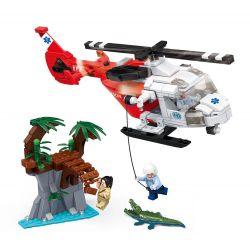 Gudi 9221 (NOT Lego Rescue Team Helicopter ) Xếp hình Trực Thăng Cứu Nạn 322 khối