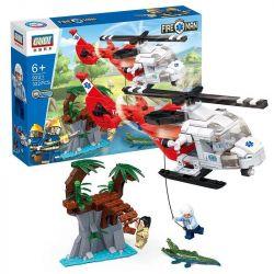 GUDI 9221 Xếp hình kiểu Lego CITY Fireman:Rescue Helicopter trực thăng cứu nạn 322 khối