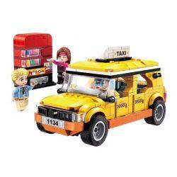Enlighten 1134 Qman 1134 Xếp hình kiểu Lego ColorfulCity Colorful City City Sightseeing Taxi Taxi Thành Phố 322 khối