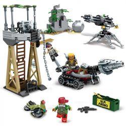 SEMBO 11707 Xếp hình kiểu Lego BLACK GOLD Black Plan Resource Defense War Bảo Vệ Tài Nguyên 314 khối