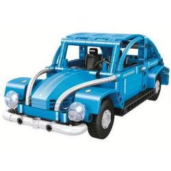 Winner 7090 (NOT Lego Technic Classic Car Pull Back Car 2In1 ) Xếp hình Xe Bọ Rùa 2 Trong 1 314 khối
