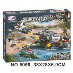 Winner 5059 Xếp hình kiểu Lego SWAT SPECIAL FORCE Crocodile Special Forces Magic Crocodile 5059 đội đặc Nhiệm Cá Sấu 310 khối
