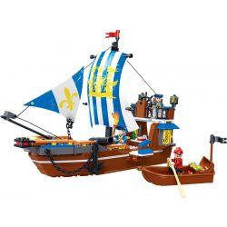 GUDI 9114 Xếp hình kiểu Lego PIRATES OF THE CARIBBEAN Legend Of Pirates Royal Warship Vasa Pirate Legend Chiến Hạm Hoàng Gia 312 khối