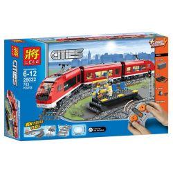 Lele 28032 (NOT Lego City 7938 Passenger Train ) Xếp hình Tàu Chở Khách 669 khối