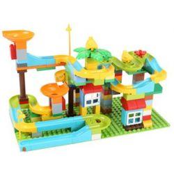 Feelo 1609 Xếp hình kiểu LEGO Duplo Big particle slide pipe Ống trượt hạt lớn 158 khối
