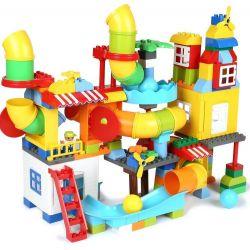 FEELO 1625 Xếp hình kiểu Lego Duplo DUPLO Particle Pipe Slide Building Blocks Boys And Girls Khối ống trượt xây dựng khối chàng trai và cô gái 150 khối