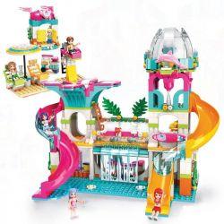 Enlighten 2022 Qman 2022 Xếp hình kiểu Lego FRIENDS Cherry Xueli Vital Beach Sunshine Water Park Công Viên Nước 828 khối