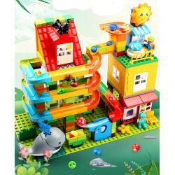 Feelo 1648 Xếp hình kiểu LEGO Duplo Large grain tube holder to the sea ống hạt lớn chủ để biển cả 242 khối