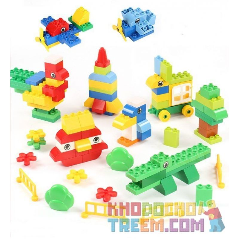 Feelo 1622A Xếp hình kiểu LEGO Duplo Creative puzzle xếp hình sáng tạo 125 khối