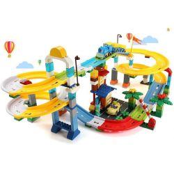 FEELO 1660D Xếp hình kiểu Lego Duplo DUPLO Roller Coaster tàu lượn siêu tốc 200 khối