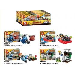 SHENG YUAN SY 1038 1038A 1038B 1038C 1038D Xếp hình kiểu Lego BATTLE ROYALE Jedi Survival Small Scene 4 Jedi Sinh Tồn Phần 4 gồm 4 hộp nhỏ 327 khối