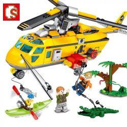 Sembo 603030 (NOT Lego Rescue Team Rainforest Helicopter Rescue ) Xếp hình Trực Thăng Cứu Hộ 324 khối