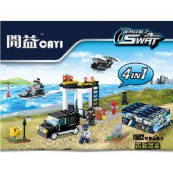 CAYI 1502 Xếp hình kiểu Lego SWAT SPECIAL FORCE 4 In 1: Van, Command Post, Boat, Helicopter 4 trong 1: Van, Bộ chỉ huy, Thuyền, Máy bay trực thăng 321 khối