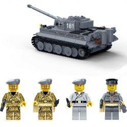 GUDI 6104 Xếp hình kiểu Lego CREATOR German King Tiger I Tank Xe tăng tiger 1010 khối