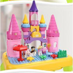 FEELO 1617 Xếp hình kiểu Lego Duplo DUPLO Castle Of Princess Sleeping In The Forest lâu đài của công chúa ngủ trong rừng 67 khối