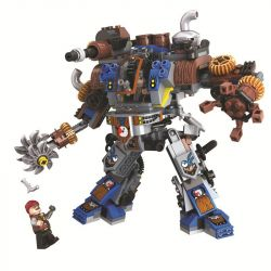 Winner 8045 Xếp hình kiểu Lego THE AGE OF STEAM SteamAge The Steam Machine Steampunk Era Steam Guard Guard Người Máy Bảo Vệ 371 khối