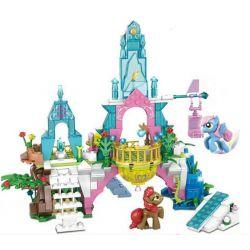 SHENG YUAN SY 1096 Xếp hình kiểu Lego MY LITTLE PONY Pony Bao Li Love Crystal Castle Lâu đài Tình Yêu Pha Lê Của Pony 359 khối