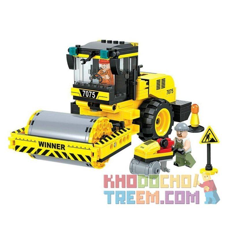Winner 7075 Xếp hình kiểu Lego CITY Little Engineers Small Engineer Roller Xe Lu 311 khối