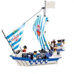 JIE STAR 30005 Xếp hình kiểu Lego PIRATES OF THE CARIBBEAN Dauntless Thuyền cướp biển 339 khối