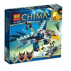 Bela 10057 Lari 10057 Xếp hình kiểu Lego LEGENDS OF CHIMA Eris' Eagle Interceptor Legend Of Qigong Eagle Jess Interceptor Đại Bàng Của Eagle Jess 348 khối