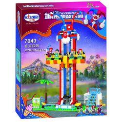 Winner 7043 Xếp hình kiểu Lego City Modern Paradise Vertical Limit Trò Chơi Cảm Giác Mạnh 337 khối