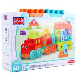 Mega Bloks Mega Bloks DXH35 Building Basics Abc Learning Train Xếp hình 60 khối