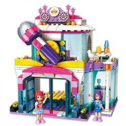 Enlighten 2014 Qman 2014 Xếp hình kiểu Lego CHERRY Colorful Holiday Star Dream KTV Tiệm Karaoke Của Cherry 342 khối