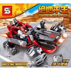 SHENG YUAN SY 7035 Xếp hình kiểu Lego TECHNIC Eat Chicken Pull Back Car Ăn gà kéo xe lại 310 khối có động cơ kéo thả