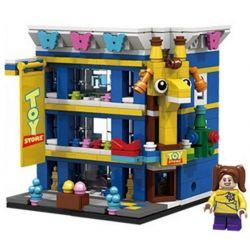 PanlosBrick 657018 Panlos Brick 657018 Xếp hình kiểu Lego MINI MODULAR Streetscape City Street View Toy Store Cửa Hàng đồ Chơi 310 khối