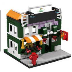 PanlosBrick 657008 Panlos Brick 657008 Xếp hình kiểu Lego MINI MODULAR Streetscape City Street View Fruit Shop Cửa Hàng Hoa Quả 145 khối