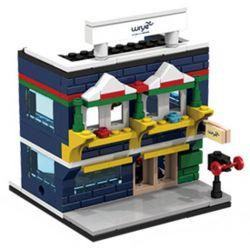 PanlosBrick 657010 Panlos Brick 657010 Xếp hình kiểu Lego MINI MODULAR Streetscape City Street View Sports Store Cửa Hàng đồ Thể Thao 145 khối