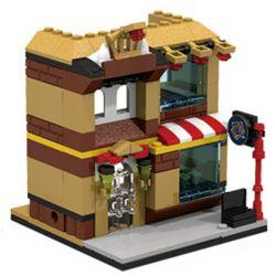 PanlosBrick 657011 Panlos Brick 657011 Xếp hình kiểu Lego MINI MODULAR Streetscape City Street View Makeup Shop Cửa Hàng Trang điểm 145 khối