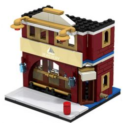 PanlosBrick 657012 Panlos Brick 657012 Xếp hình kiểu Lego MINI MODULAR Streetscape City Street View Jewelry Cửa Hàng Trang Sức 145 khối