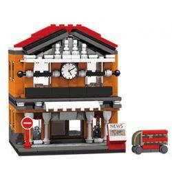 PanlosBrick 657013 Panlos Brick 657013 Xếp hình kiểu Lego MINI MODULAR Streetscape City Street View Railway Station Nhà Ga 310 khối