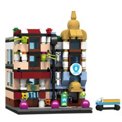 PanlosBrick 657016 Panlos Brick 657016 Xếp hình kiểu Lego MINI MODULAR Streetscape City Street View Inns Nhà Trọ 310 khối