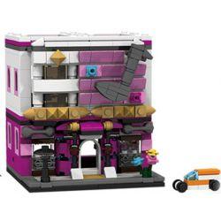 PanlosBrick 657017 Panlos Brick 657017 Xếp hình kiểu Lego MINI MODULAR Streetscape City Street View Concert Hall Nhà Hát 310 khối