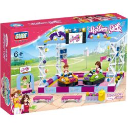 GUDI 9611 Xếp hình kiểu Lego MODERN GIRLS Modern Girls:Bumper Car Trò chơi xe điện 312 khối