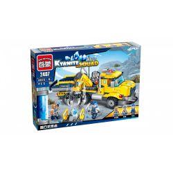 Enlighten 2407 Qman 2407 Xếp hình kiểu Lego KYANITE SQUAD Kyanite Squad Kyanite Transporter Slim Squad Slim Collector Xe Cần Cẩu Kyanite 309 khối