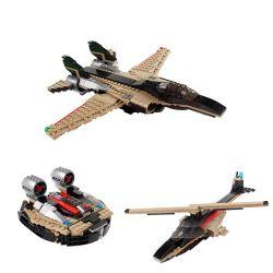 Decool 3123 Jisi 3123 Xếp hình kiểu Lego CREATOR Fast Flyers Blue Sky Máy Bay Phản Lực Ba Trong Một 312 khối