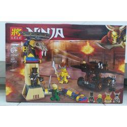LELE 31167 Xếp hình kiểu THE LEGO NINJAGO MOVIE Ninja Masters Of Spinjitz Gold Ninja Snake Rắn Vàng Khổng Lồ 322 khối