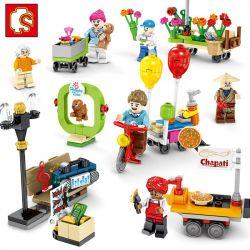 Sembo 601050 (NOT Lego City City People 8 ) Xếp hình Cư Dân Thành Phố 8 gồm 8 hộp nhỏ 325 khối